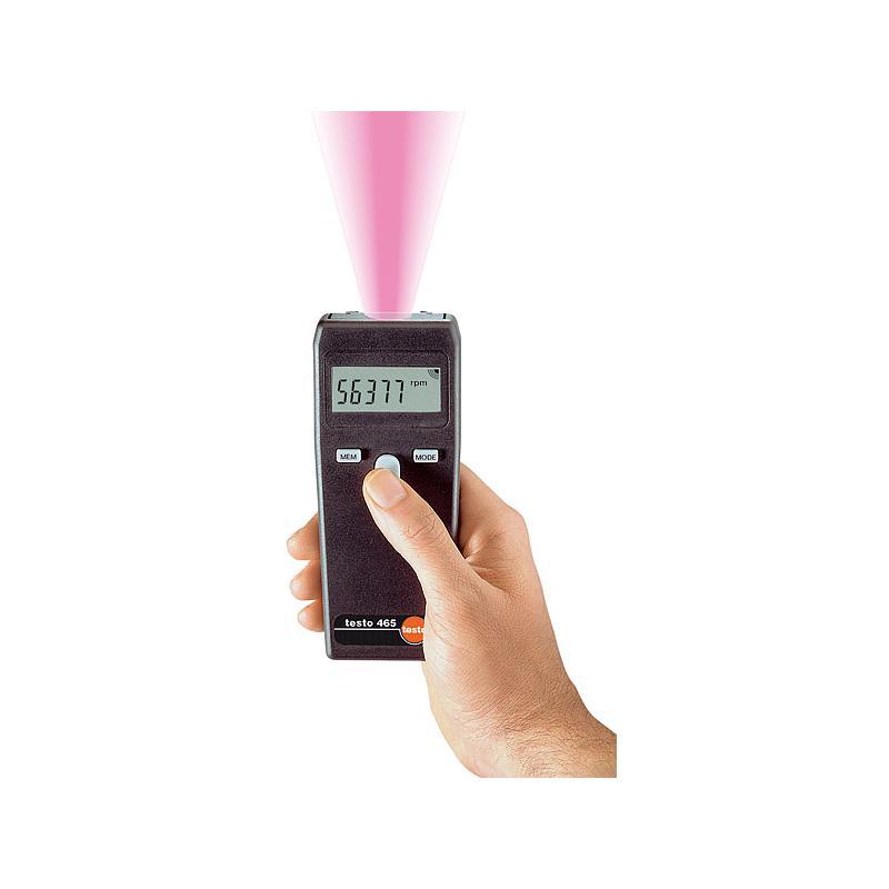 Mesure de la vitesse de rotation : tachymètre sans contact 465