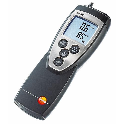 Mesure de pression différentielle et vitesse d'air : manomètre-anémomètre testo 512 - 0...2 hPa
