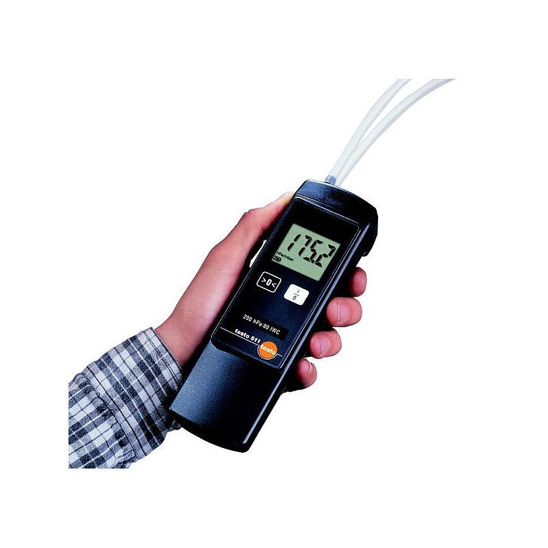 Mesure de pression différentielle : manomètre testo 521-1
