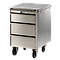 Meuble Inox sous paillasse - 1 porte / 1 tiroir  - Ouverture droite - 490 x 570 mm - Bano