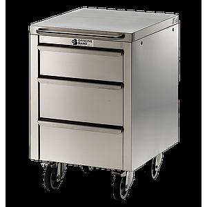 Meuble Inox sous paillasse - 1 porte / 1 tiroir  - Ouverture gauche - 490 x 570 mm - Bano