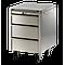 Meuble Inox sous paillasse - 3 tiroirs - 735 x 670 mm - Bano