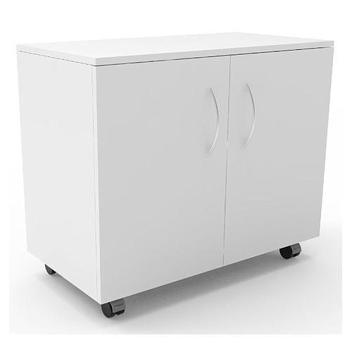 Meuble mobile blanc à 2 portes, L900 x p450 x H720 mm