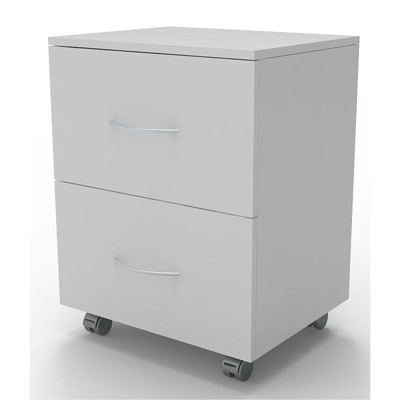 Meuble mobile blanc à 2 tiroirs, L830 x p450 x H720 mm