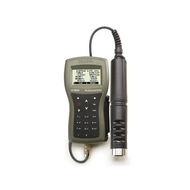 Multiparamètres HI 9829 - Kit standard + turbidité - 4 m - Hanna