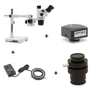 Pack promo : loupe binoculaire SZO-8 + C-B5 + éclairage + adaptateur
