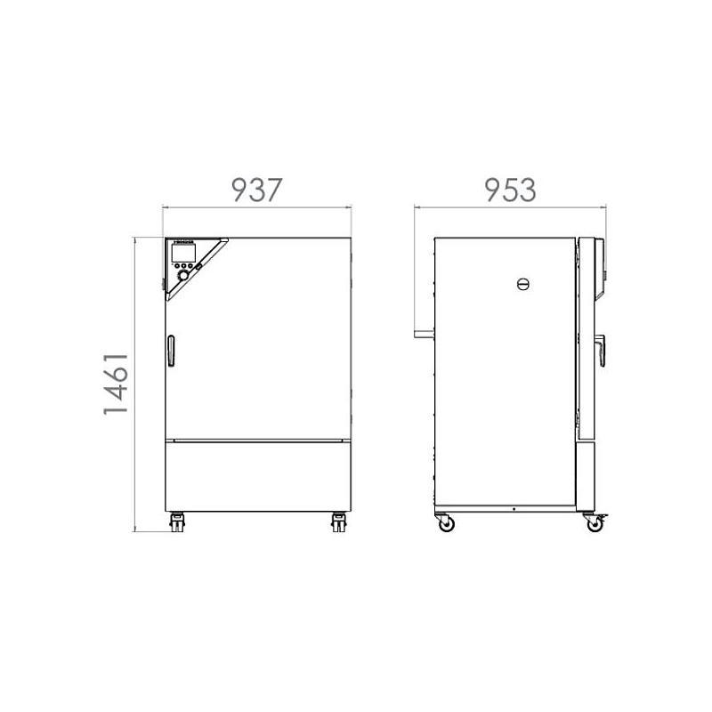Package A «Enceinte climatique réfrigérée KB 240 – Spécial test de batterie hors tension » – Binder