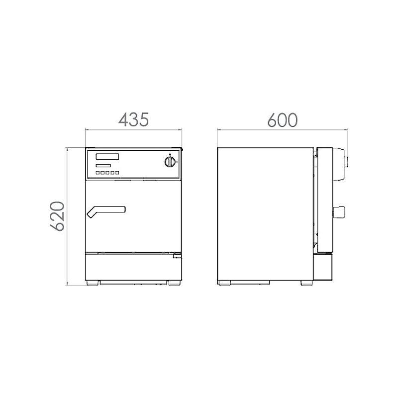 Package A «Incubateur réfrigéré KB 23– Spéciale test de batterie hors tension » – Binder