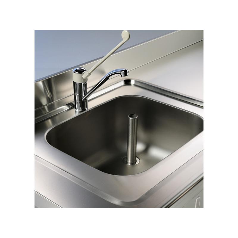 Paillasse humide - Avec évier à gauche et dosseret - 1200 x 700 mm - Bano