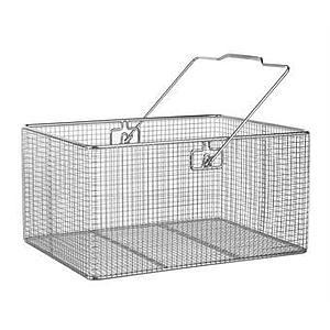 Panier en fil inox - Forme rectangulaire à anse