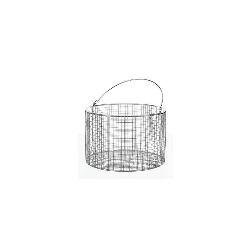 Panier en fil inox - Forme ronde à anse - Ø 120 mm