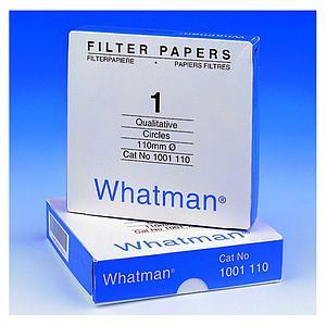 Papier filtre qualitatif 110mm - boîte de 100 cercles - Whatman