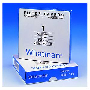 Papier filtre qualitatif 150mm - boîte de 100 cercles - Whatman