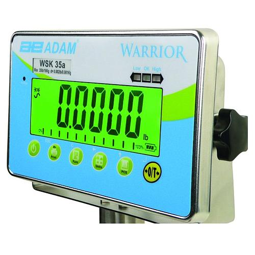 Pesage : balance étanche Warrior WSK 8 - ADAM