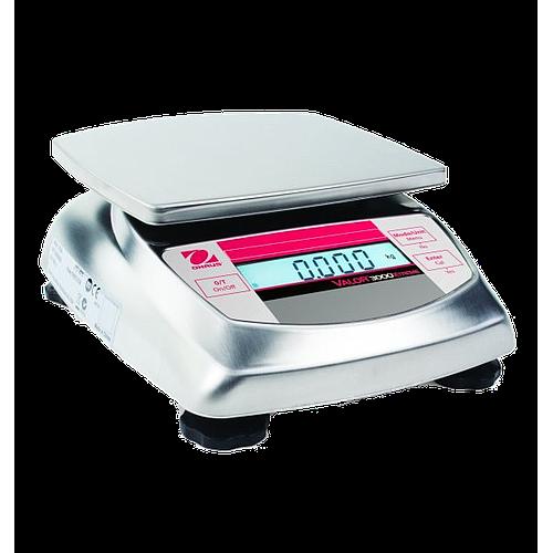 Pesage : balance inox agroalimentaire Ohaus Valor 3000 Xtreme haute résolution - 6 kg - OHAUS