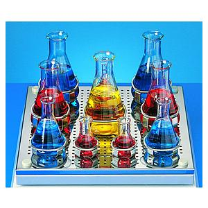 Pinces en acier inox pour erlenmeyer 250 - 300 ml