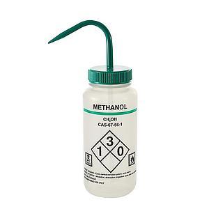 Pissette de sécurité à col large PEBD - Impression Eau distillée - 500 ml