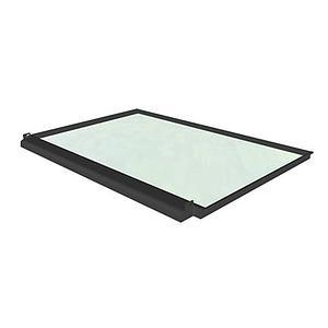Plan de travail en verre émaillé trempé avec bac de rétention pour Hotte CAPTAIR Flex M 321 - Erlab