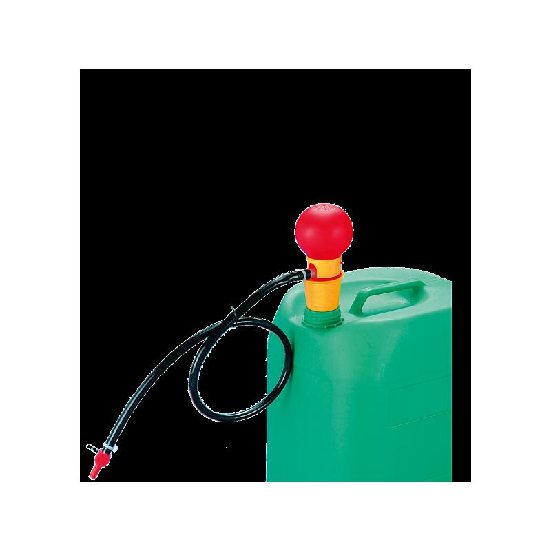 Pompe à main OTAL avec tuyau et robinet, PP - Bürkle