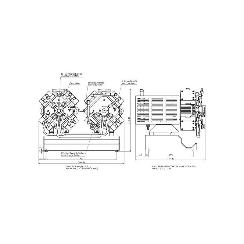 Pompe à vide - Atex MV 10C EX Vario - Vacuubrand