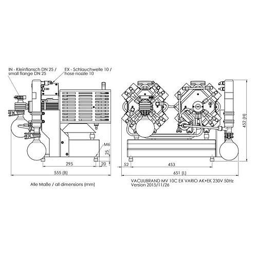 Pompe à vide - Groupe de pompage Atex MV 10C EX Vario +AK+EK - Vacuubrand
