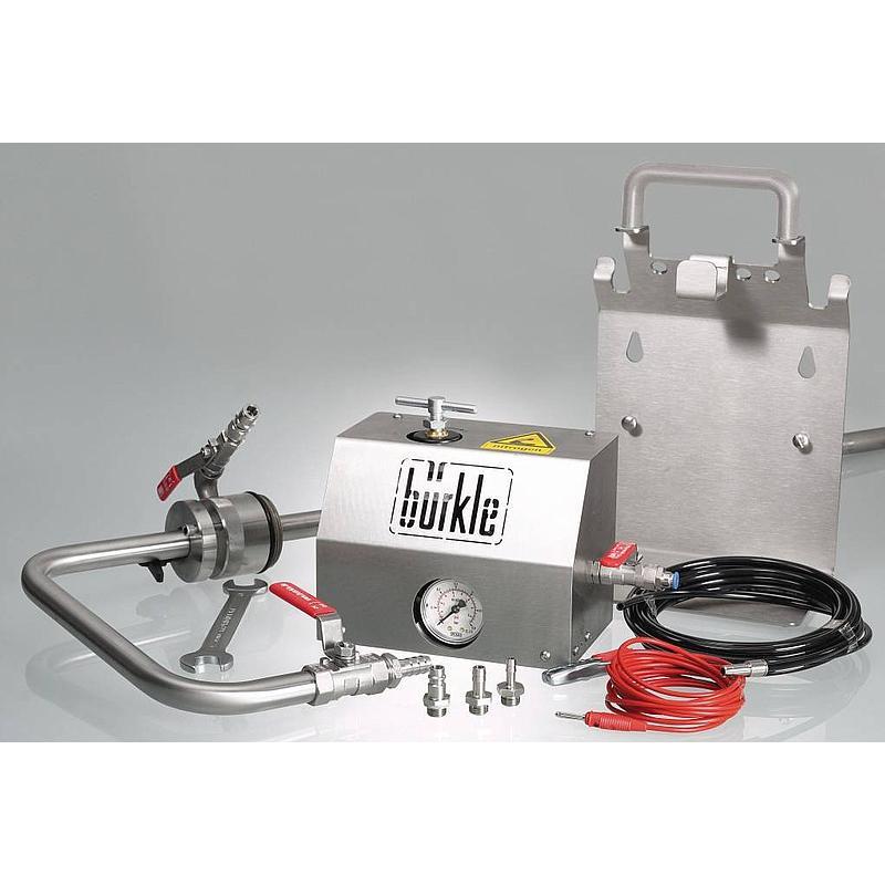 Pompe de prélèvement de solvants pour fûts, ATEX - Coude de sortie - Bürkle