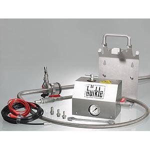 Pompe de prélèvement de solvants pour fûts, ATEX - Flexible d'écoulement - Bürkle