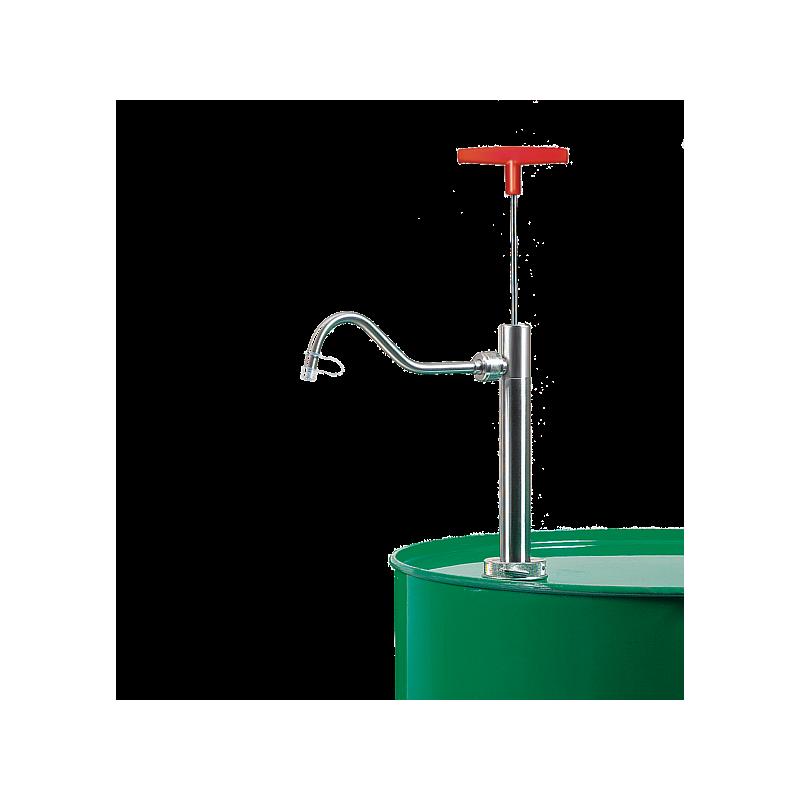 Pompe vide-fût inox, coude de sortie, ATEX - Bürkle