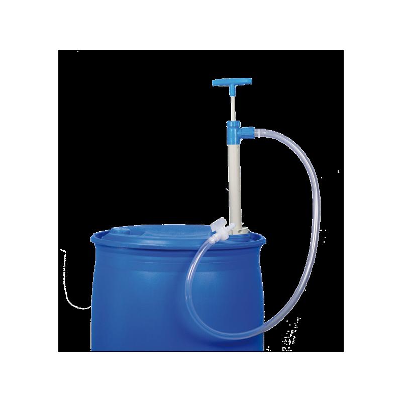 Pompe vide-fût, PP - flexible d'écoulement et robinet - Bürkle