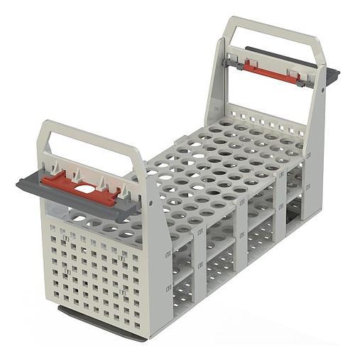 Portoir plastique pour 90 tubes 75 x Ø12/13 mm - max 100 °C - Julabo