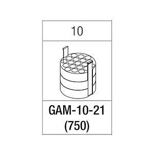 Portoir pour 21 tubes de 10 ml - Gyrozen