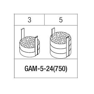 Portoir pour 24 tubes 3 / 5 ml - Gyrozen