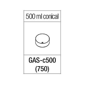 Portoir pour tube à fond conique de 500 ml - Gyrozen