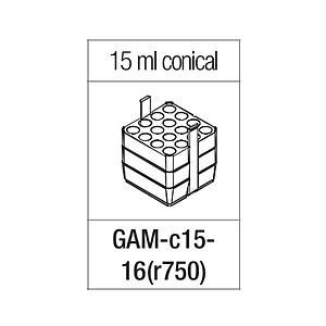 Portoir rectangulaire pour 16 tubes coniques 15 ml - Gyrozen