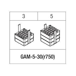 Portoir rectangulaire pour 30 tubes 3 / 5 ml - Gyrozen