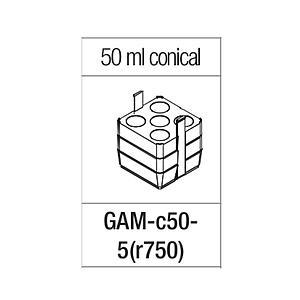 Portoir rectangulaire pour 5 tubes coniques de 50 ml - Gyrozen