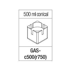 Portoir rectangulaire pour tube conique de 500 ml - Gyrozen
