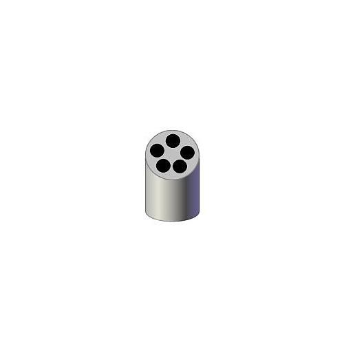 Portoir réducteur pour 5 tubes Vacu - 13 x 75 mm