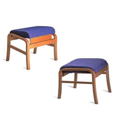 Pouf Relax en bois, couleur lilas - Kango