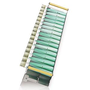 Racks L Lowenstein pour 16 tubes 100 - 125 mm - Ø 15-20 mm - Hettich