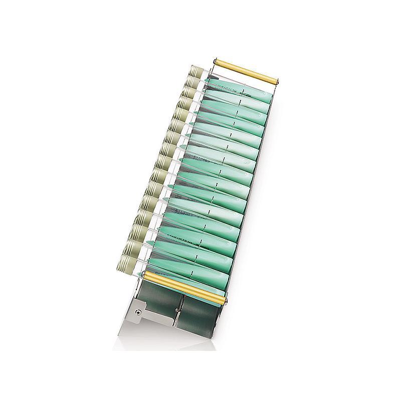 Racks L Lowenstein pour 16 tubes 100 - 125 mm - Ø 15-20 mm - Hettich