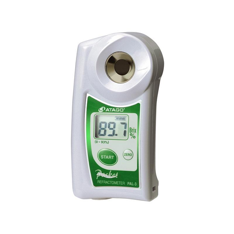 Réfractomètre numérique : réfractomètre PAL-3 pour la teneur en sucre - ATAGO