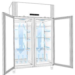 Réfrigérateur froid intensif antidéflagrant BioPlus ER 1400 - Portes pleines - GRAM