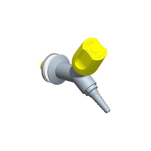 Robinet à 45° avec déclic de sécurité poignée à 45°, profondeur de bec = 110 mm