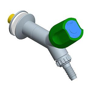Robinet à 45° avec embout dévissable, profondeur de bec = 100 mm