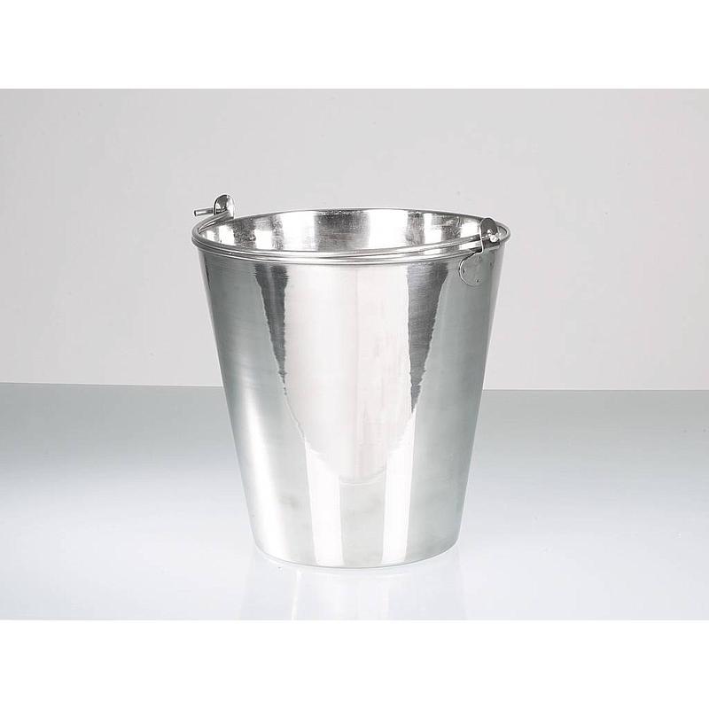 Seau acier inoxydable poli - 10 litres - Bürkle