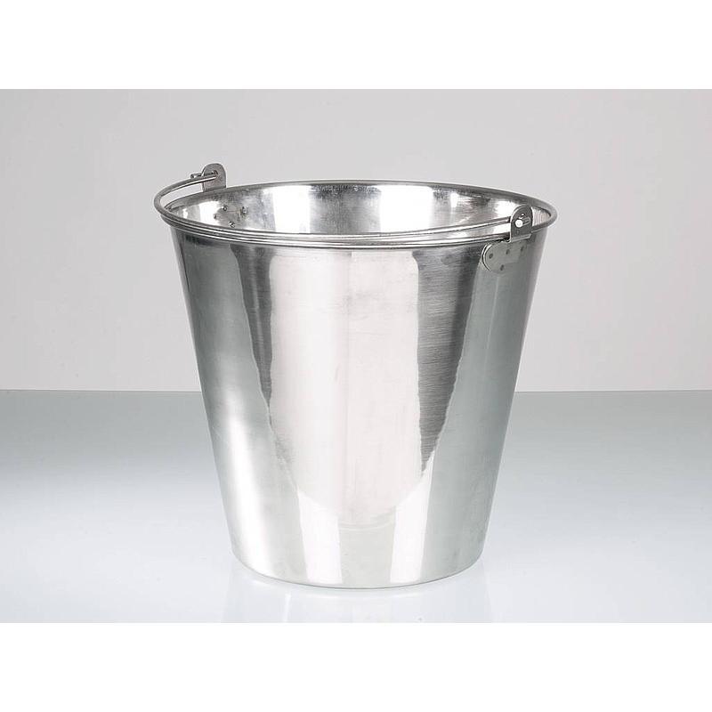 Seau acier inoxydable poli - 15 litres - Bürkle