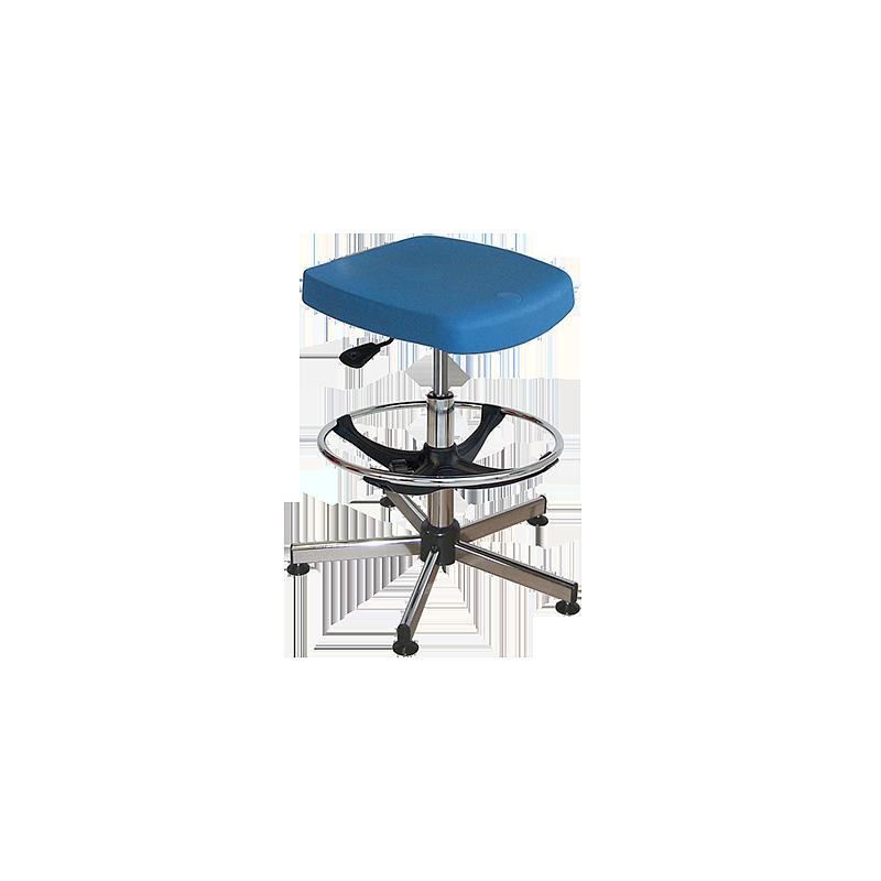 Semi-assis polyuréthane bleu avec repose-pieds - Kango