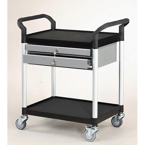 Servante multi-usages 2 plateaux + 2 tiroirs - 250 kg