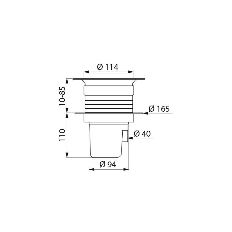 Siphon de sol pour sol souple ou vinyle